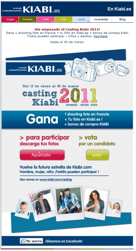 Casting Kiabi 2011