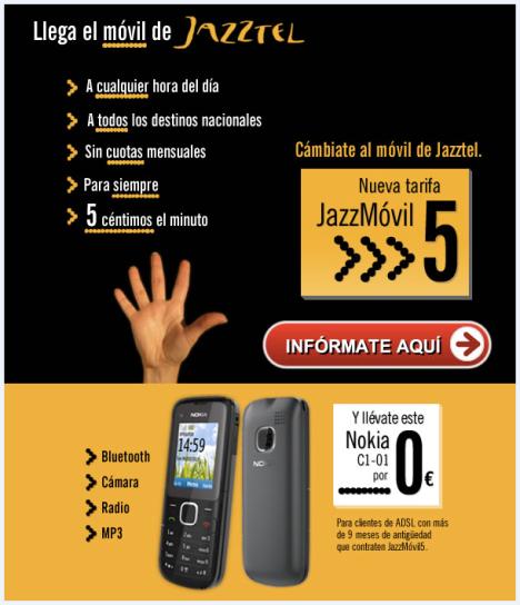 Jazztel - Oferta de telefonía móvil