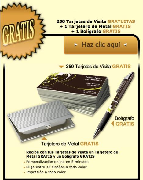 Muestras gratis con Vistaprint
