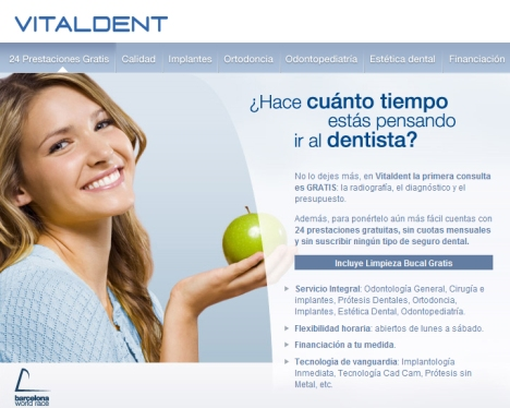 Con Vitaldent Consulta gratis: radiografía, diagnóstico y presupuesto. Sin suscribir ningún tipo de seguro