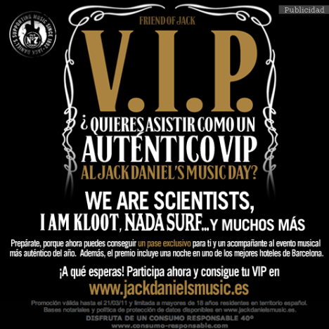 Concierto Jack Daniels - Consigue un Pase VIP