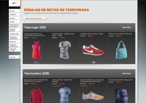 Hasta un 40% de descuento en Nike Store