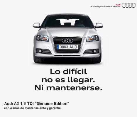 Promoción Audi: Conduce un Audi A3 por 139 euros al mes