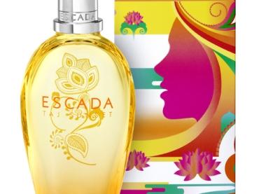 Pide tu muestra gratis de Taj Sunset el nuevo perfume de Escada