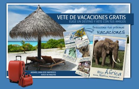 Sorteos: Vete de vacaciones gratis