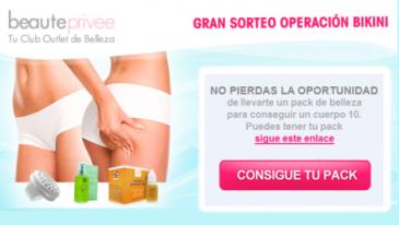 Inscríbete en Beauteprivee y participa en el sorteo de 15 packs de belleza