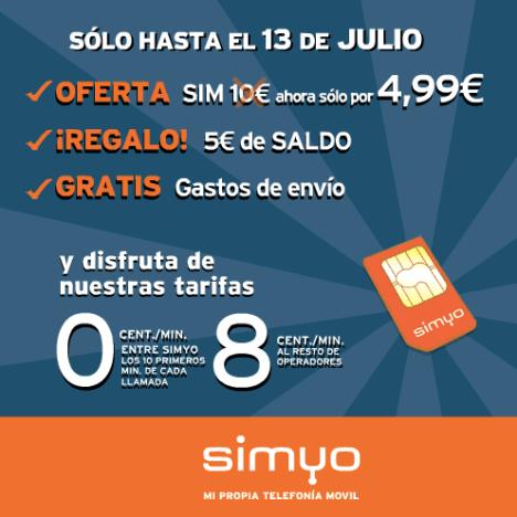 Simyo: Ofertas en telefonía móvil