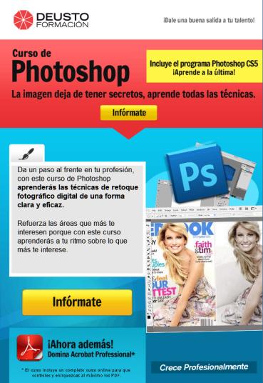 Apúntate al curso de PhotoShop de Deusto Formación