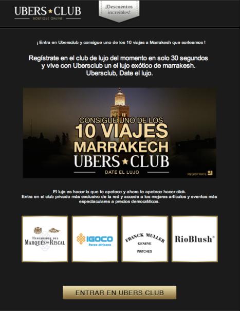 Ubers Club sortea 10 viajes a Marrakesh