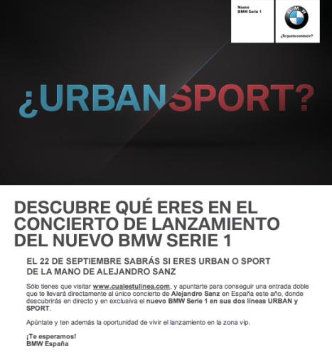 BMW Serie 1 - Concierto de presentación con Alejandro Sanz