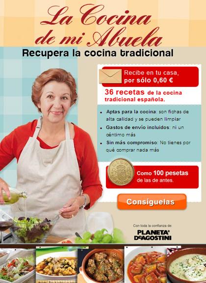 Llévate las recetas de la abuela por menos de 100 pesetas