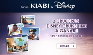 Gana 2 cruceros Disney con Kiabi