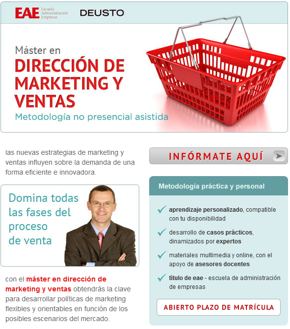 Máster de Dirección de Marketing y Ventas