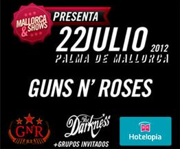 Reserva tu entrada+ alojamiento para el concierto de Guns n` Roses al mejor precio