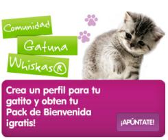 Consigue con Whiskas un pack de bienvenida para tu gatito